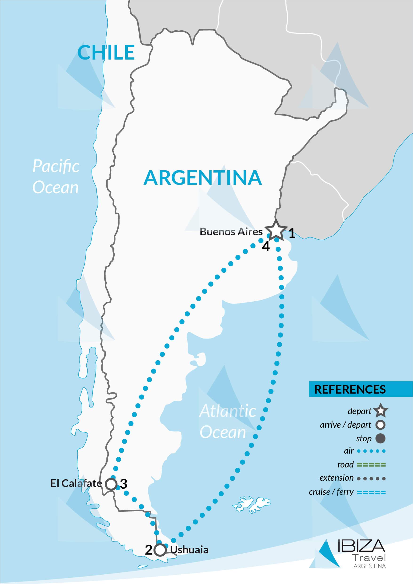 calafate glaciers ushuaia penguins tour patagonia argentina travel agency