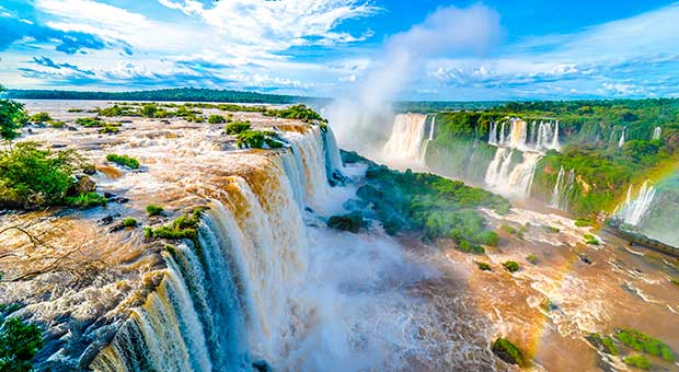 iguazu falls panoramic view